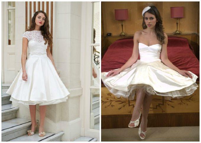 50s style wedding dress
