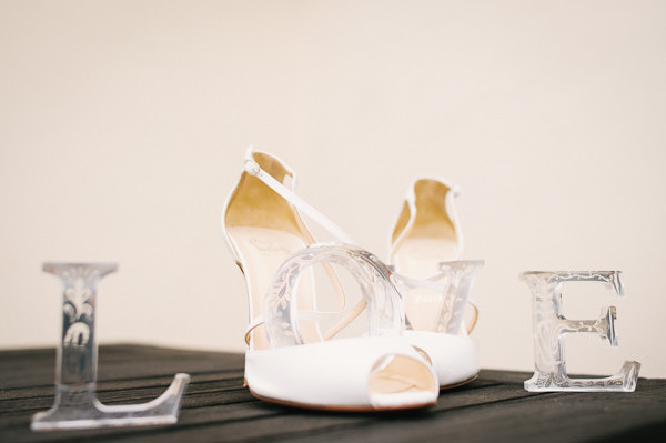 wedding shoes and love sign