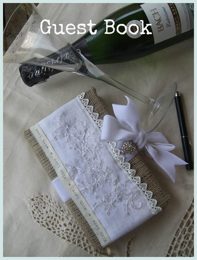 Diy Guest Book Cover ~ Diy tutorial guest book