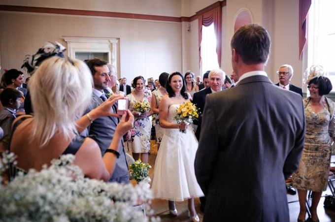 wedding ceremony at The Assembly Room, Chichester Council House