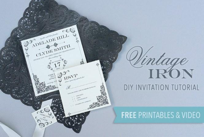 Vintage Iron Wedding Invitation