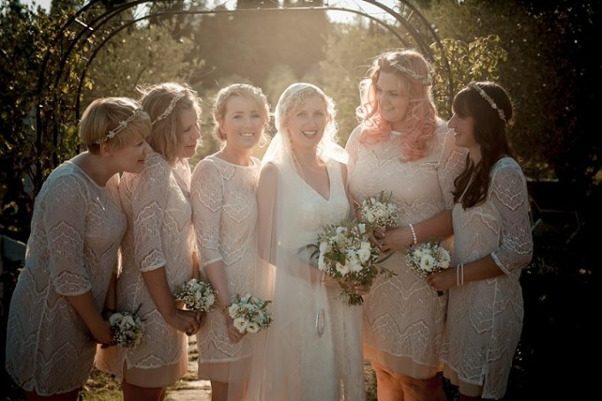 Tuscany Wedding bridesmaids By David Bastianoni Photography