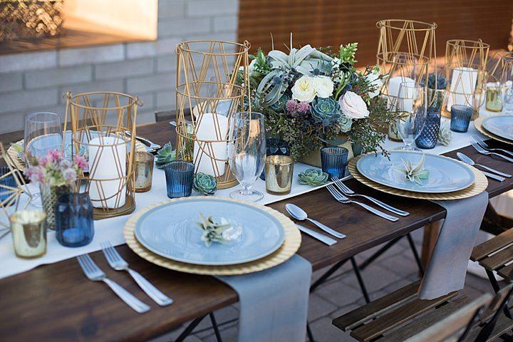 Modern Geometric Wedding Inspiration - Boho Weddings For ...