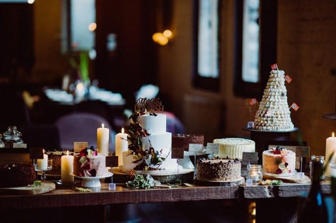 Laura and Martin's Food Loving Autumnul Edinburgh Wedding By Babb Photo cake table