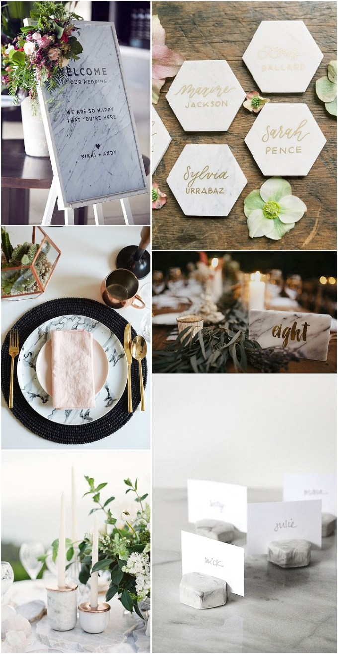 Ideas and Inspiration For Your Marble Themed Wedding