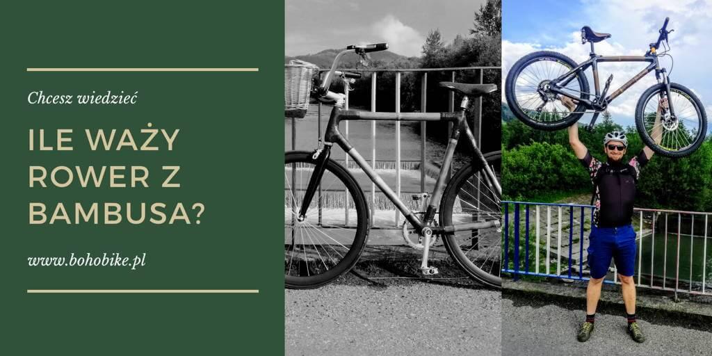 rower nad głową