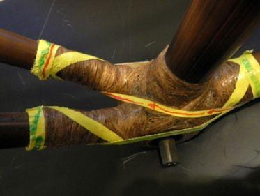 Łączenie tyczek w bambusowym rowerze Efekt 06