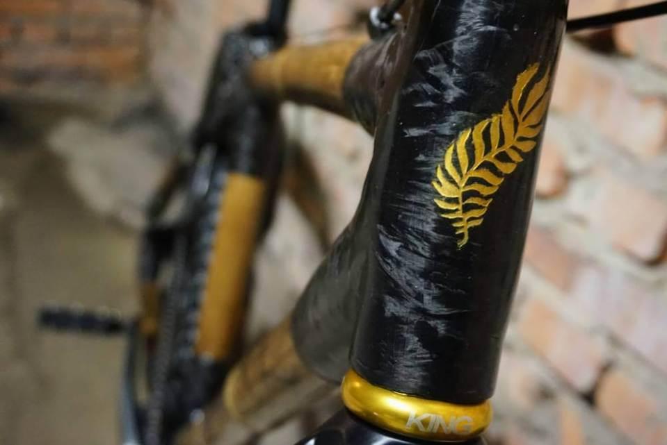 ramy rowerowej z bambusa efekt końcowy rama z bambusa 03