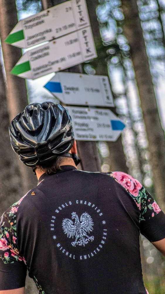 100 km na rowerze czytanie drogowskazów