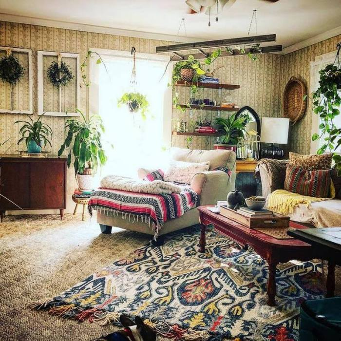 bohemian home decor ideas (24)