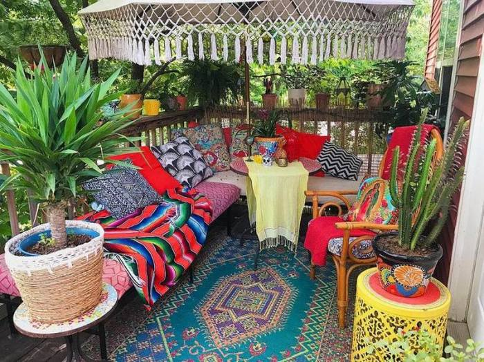bohemian home decor ideas (56)