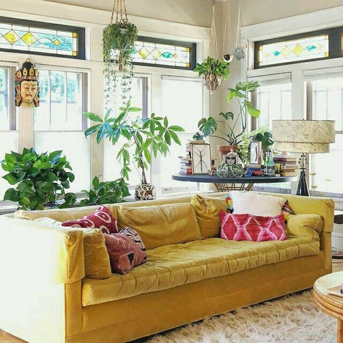 bohemian home decor ideas (58)