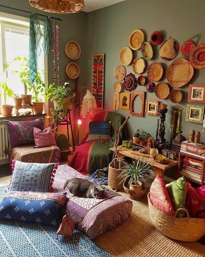 bohemian home decor ideas (8)