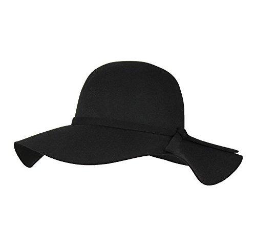 3cd4cb24b92 100% Wool Felt Winter Floppy Hat w  Wide Brim – Vintage Boho Bowler Fedora