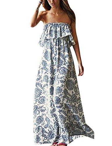 Fancymix Bohemia Sundress Low-Cut V-Neck Bathing Suit Swimsuit Cover UPS Beach Dress