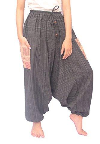 e447d550611 Wynnthaishop ChiangmaiThaiShop 100% Cotton Baggy Boho Aladin Yoga Harem  Pants