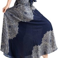 69be905f0d52 vvProud Women's Long Hippie Bohemian Skirt Gypsy Dress Boho Clothes with  Jango Flowers   One Size