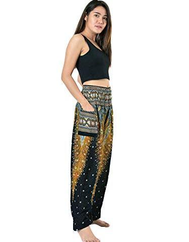 fb4cecc359 Orient Trail Smocked Waist Tribal Elephant Harem Pants US Size 0-22 · Boho  Clothing ...