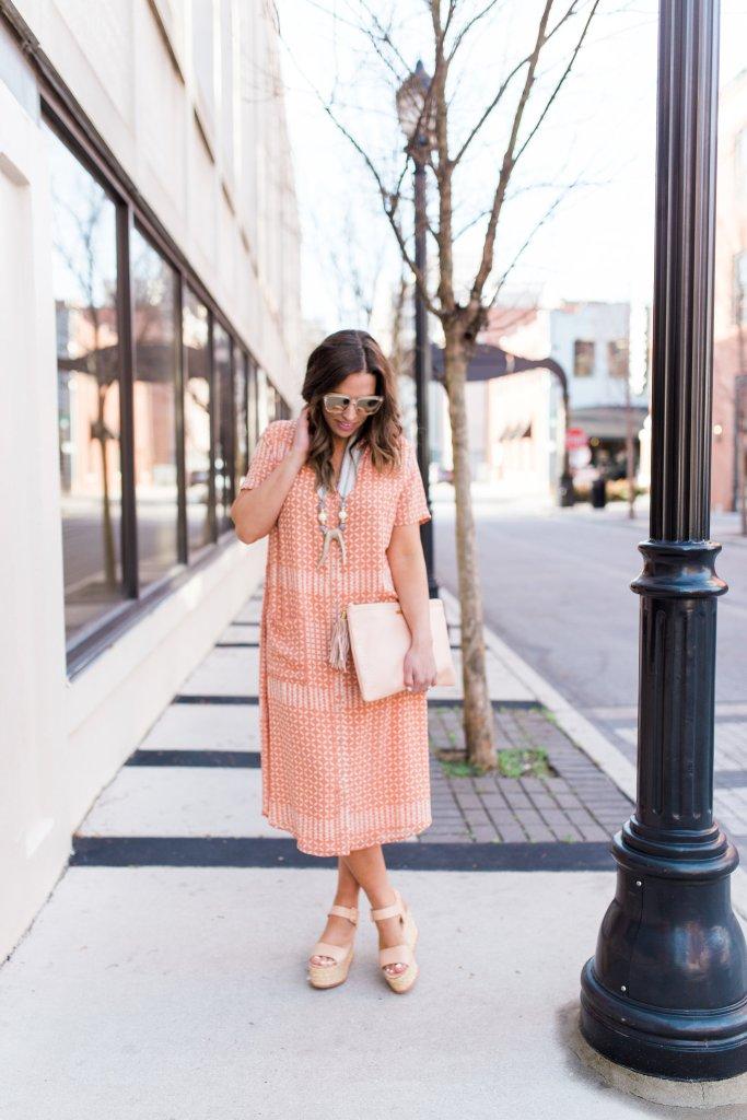maxi dress with platform wedges on boho style file