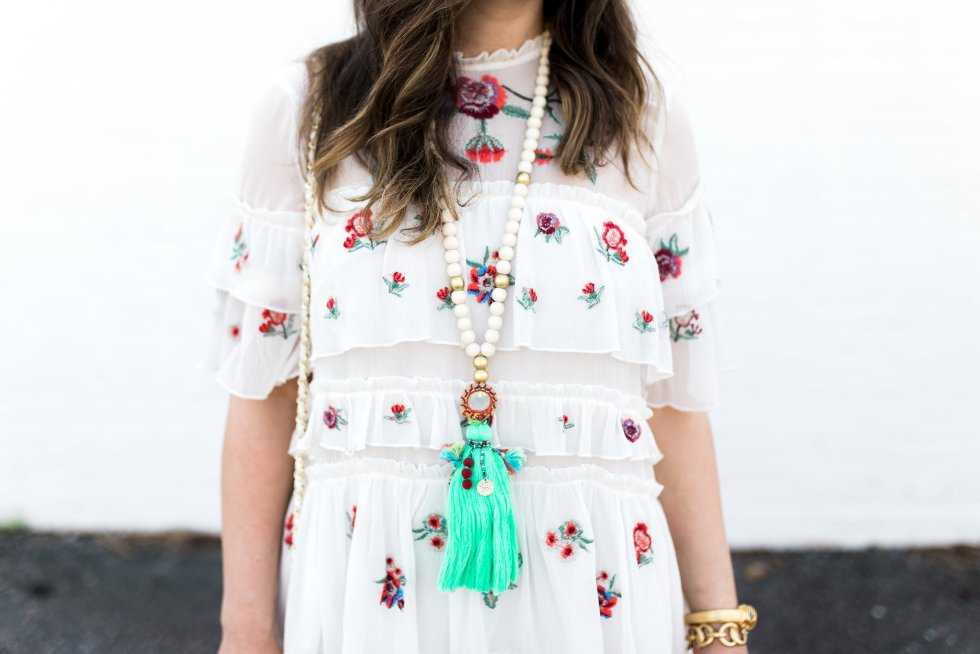 zara embroidered mini as seen on Jenny of Boho Style File