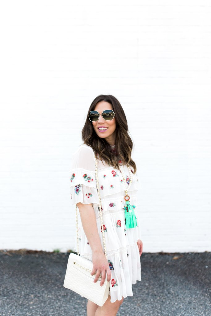zara embroidered mini dress as seen on Boho Style File