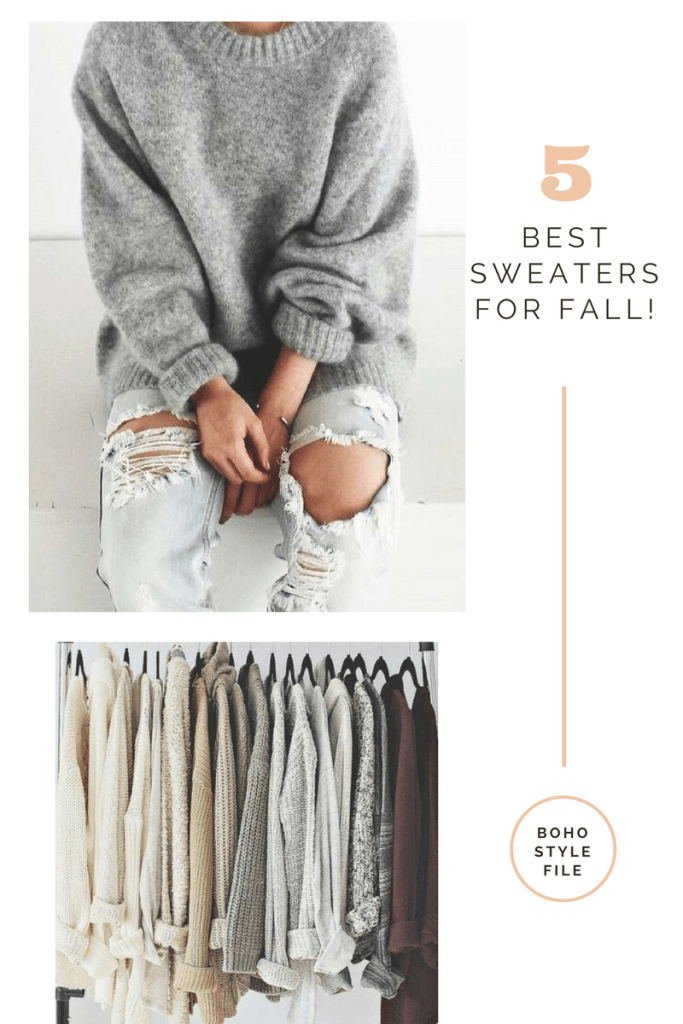 THE 5 BEST SWEATERS FOR FALL