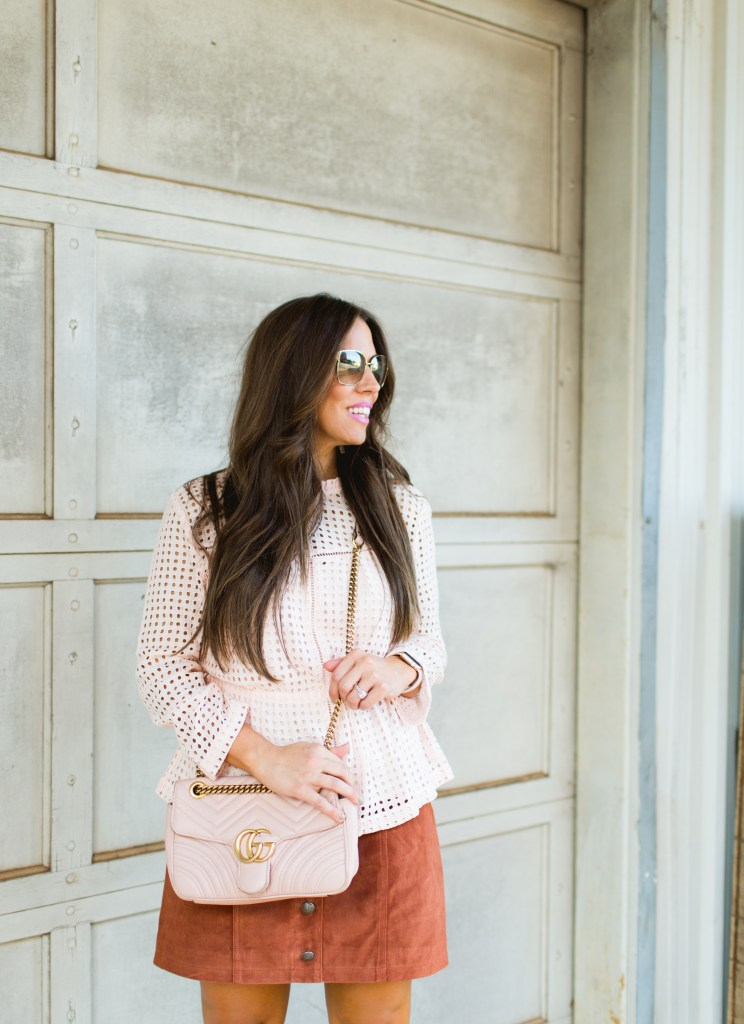 EYELET + SUEDE FOR FALL