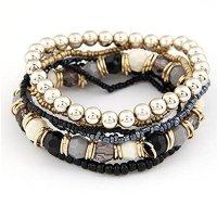 Susenstone®1 Set 7Pcs Boho Wholesale Multilayer Acrylic Beads Beach Bracelet