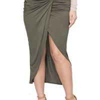ICONOFLASH Twisted Front Midi Tulip Skirt