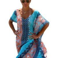 Akery Women's Chiffon Robe Beach Dress Swimsuit Bikini Cover Up