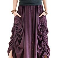 BohoHill Convertible Maxi Skirt Pants Cotton Jersey Versatile Skirt