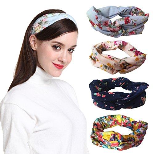 DRESHOW 1950s Vintage Modern Style Elastic Women Turban Headbands Twisted Cute Hair Band Accessories