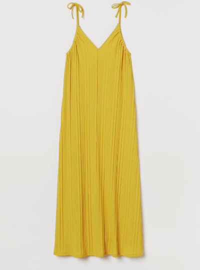 yellow ribbed maxi dress for the florida keys