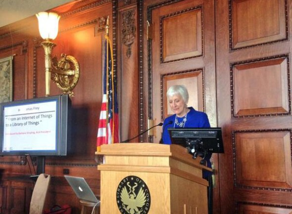 ALA President Barbara Stripling at the ALA Summit on the Future of Libraries at the Library of Congress