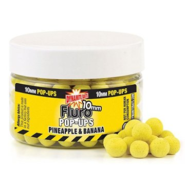 Dynamite Baits Pineapple Banana Fluo Pop- Up Boilies 10mm - 1