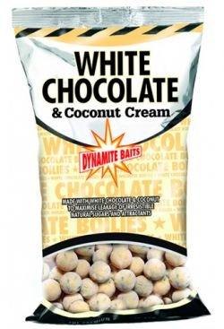 DYNAMITE BAITS White Chocolate & Coconut Cream Boilies 10mm - 1 Kg - 1