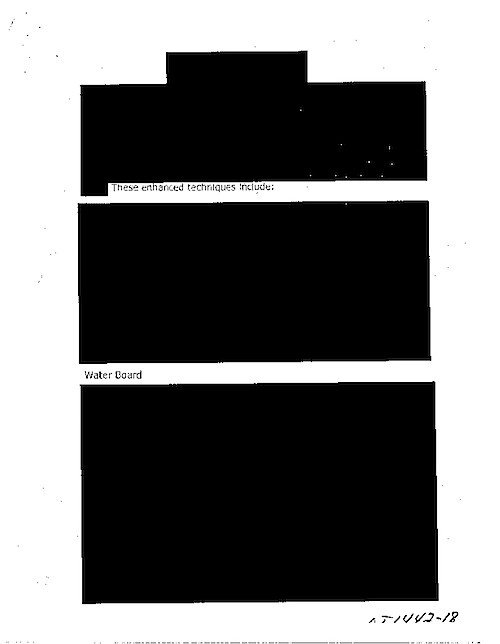 redacted cia document about torture almost entirely