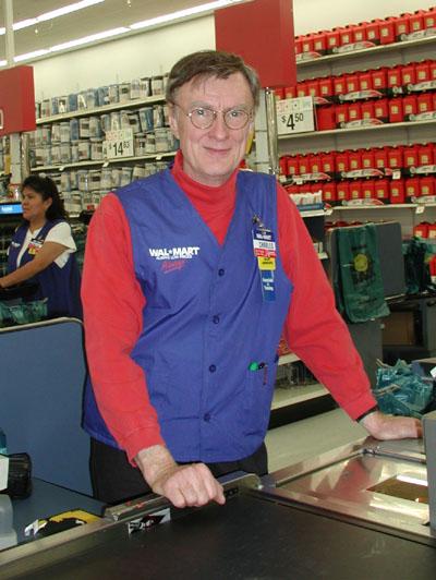 Charles Platt working at Wal-Mart