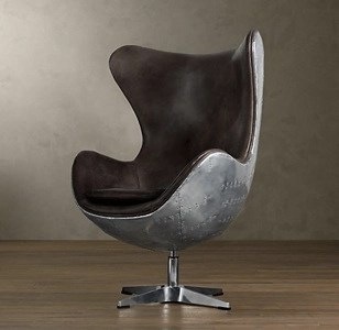 For Example, The Aviator Chair Above Is Inspired By World War II Fighter  Planes, And Wrapped In Aluminum Airplane Skin.