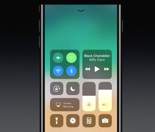 Control Center în iOS 11