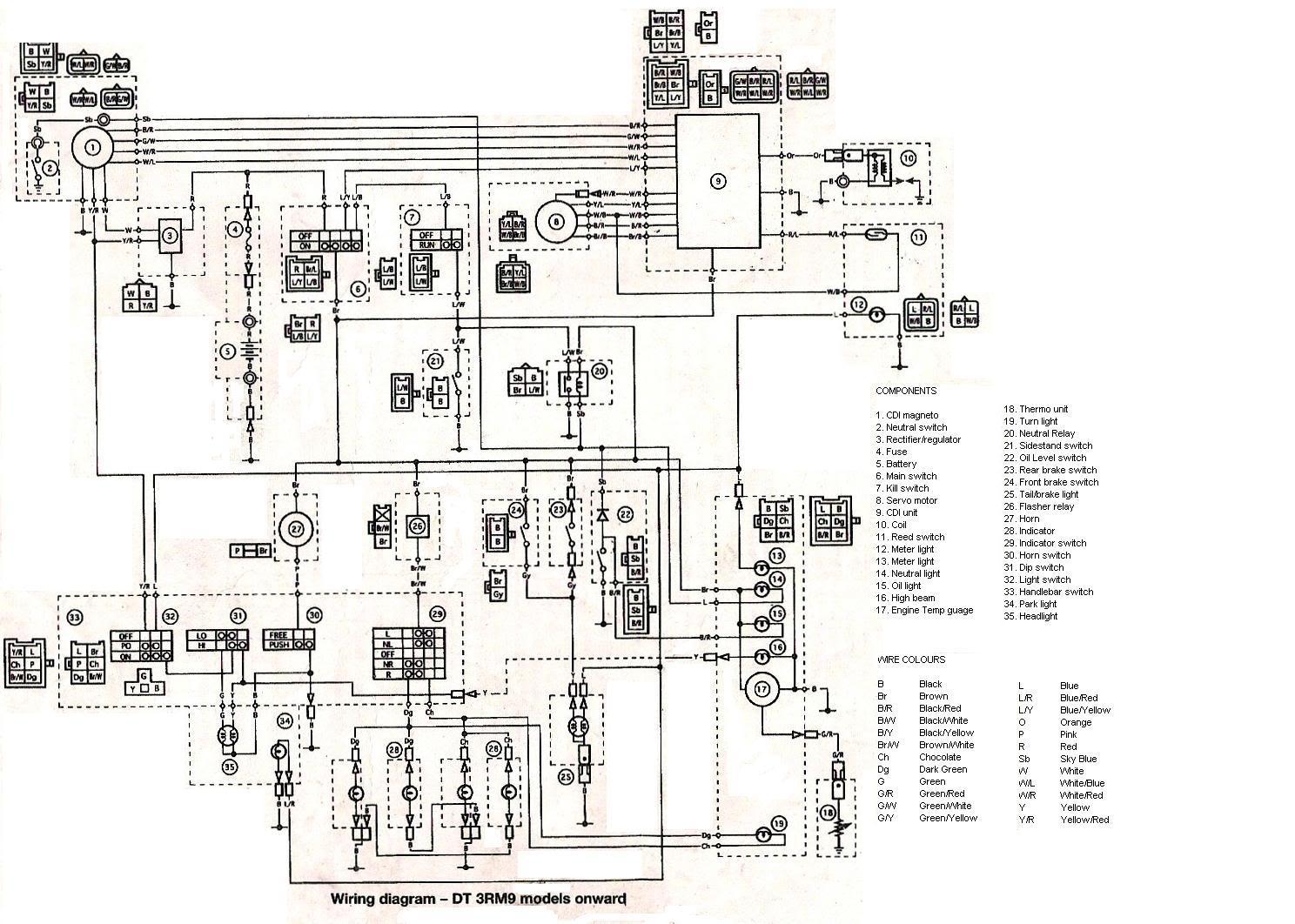 Schema Electrique Yamaha Dt 125