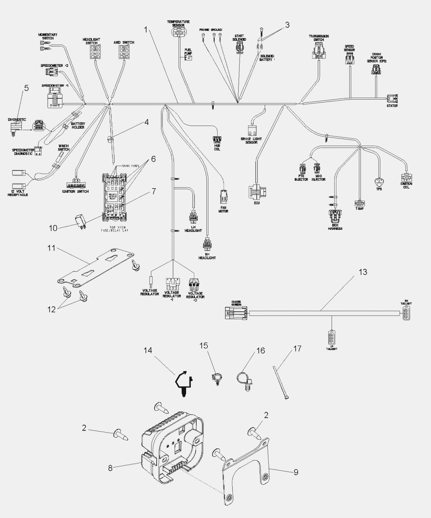 Schema Electrique Polaris Rzr 800