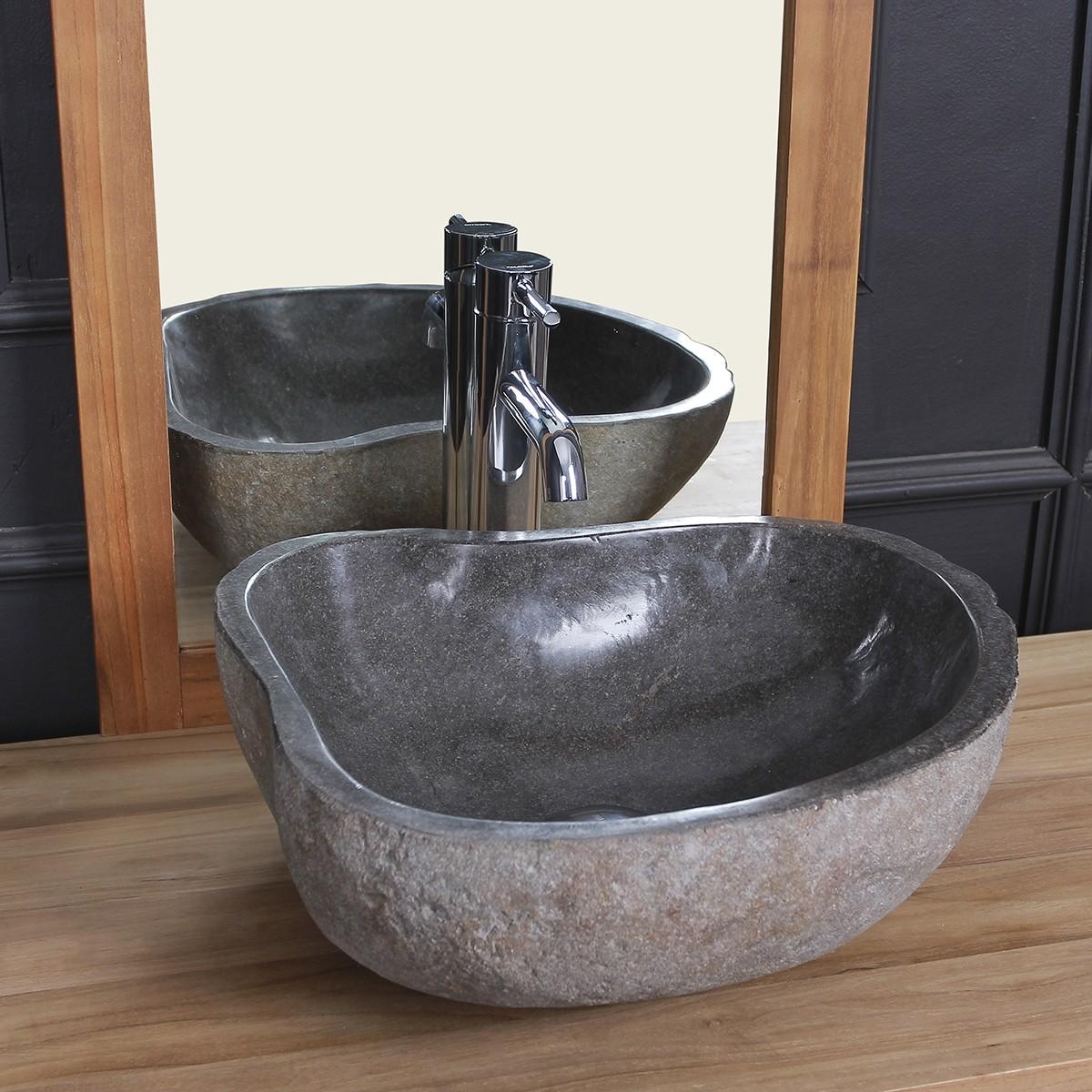 Vasque En Pierre De Riviere Naturelle 40 Mobilier De Salle De Bain Bdbd