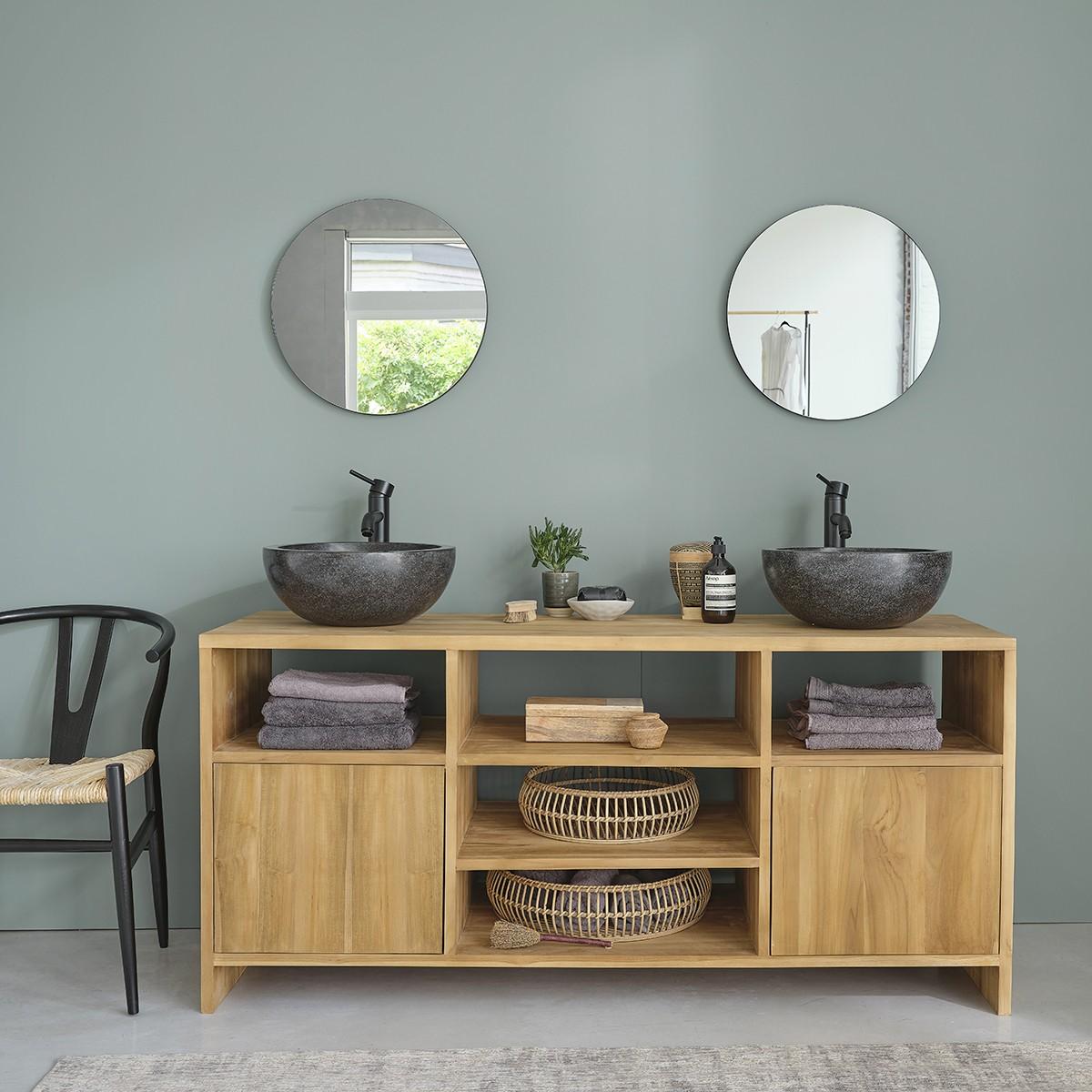 meuble de salle de bain en bois de teck 160 noa