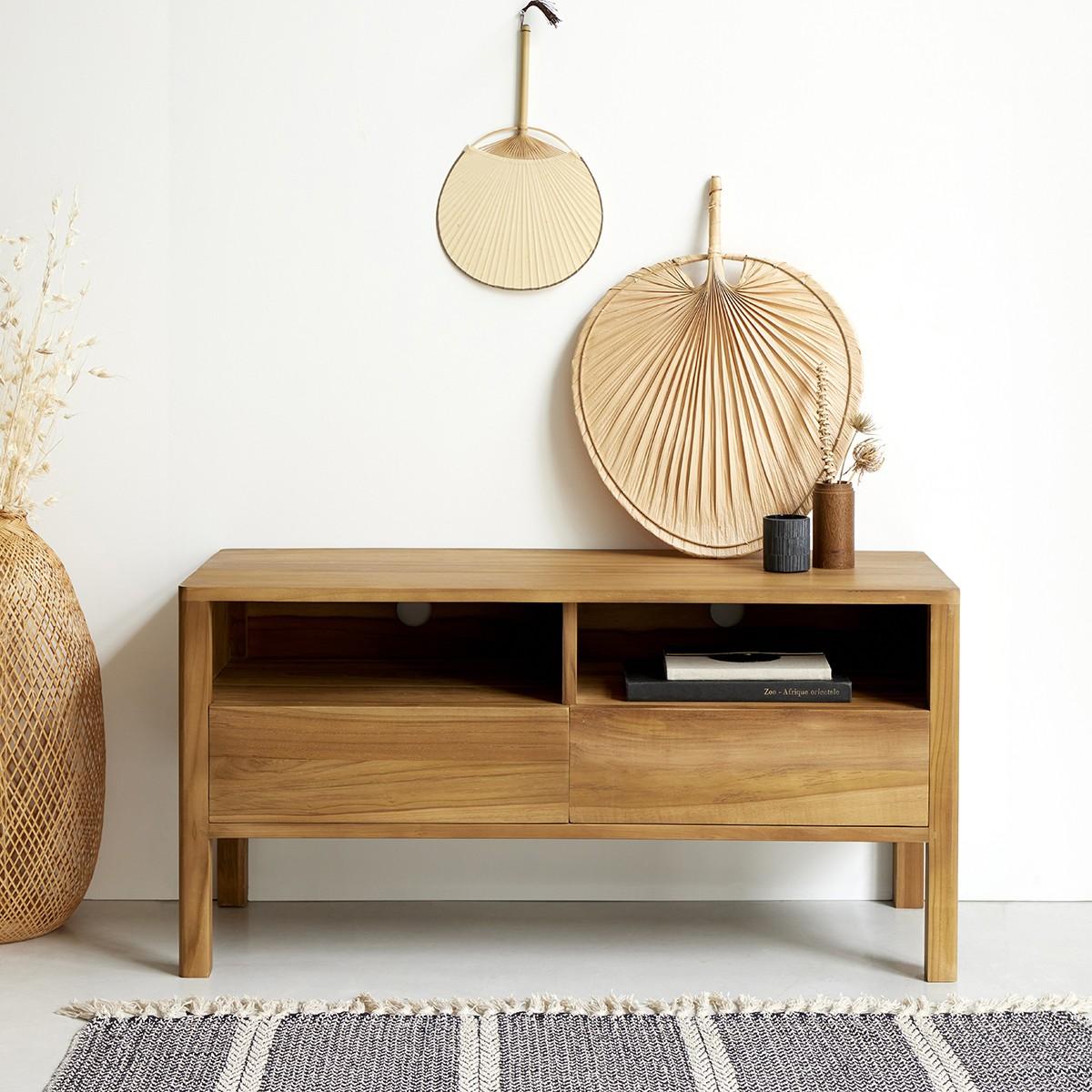 meuble tv en bois de teck 100 nido