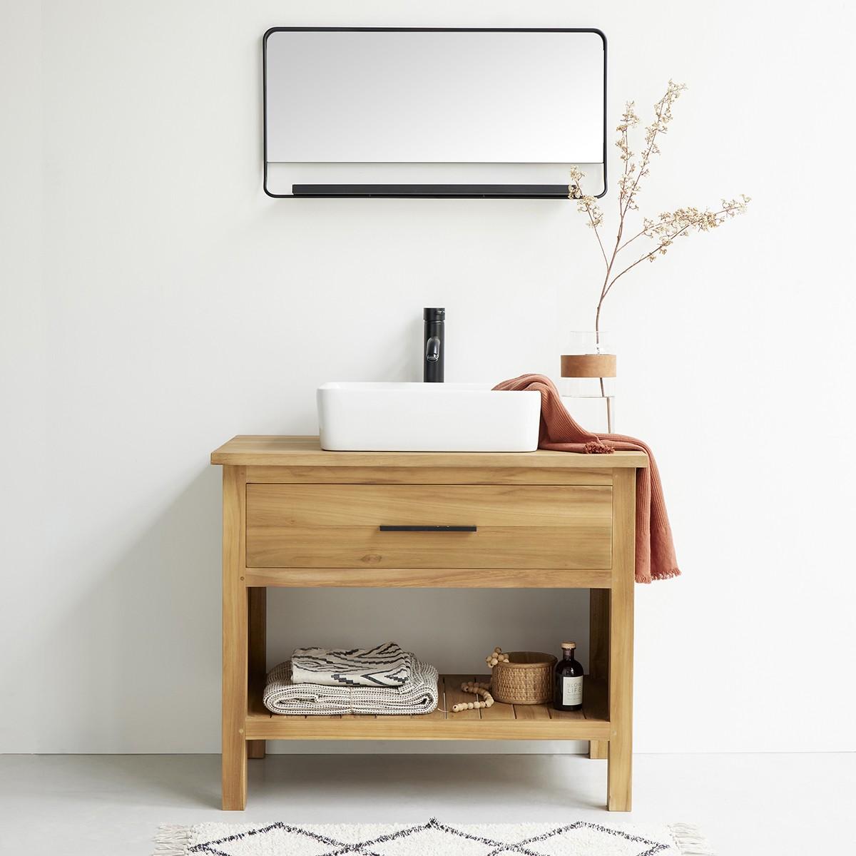 meuble de salle de bain en bois de teck 90 marli