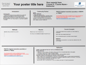 slx poster templates service learning