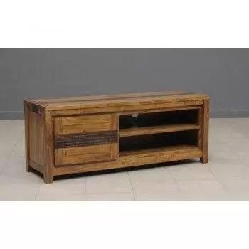 tatoo meuble tv 1 porte 2 niches