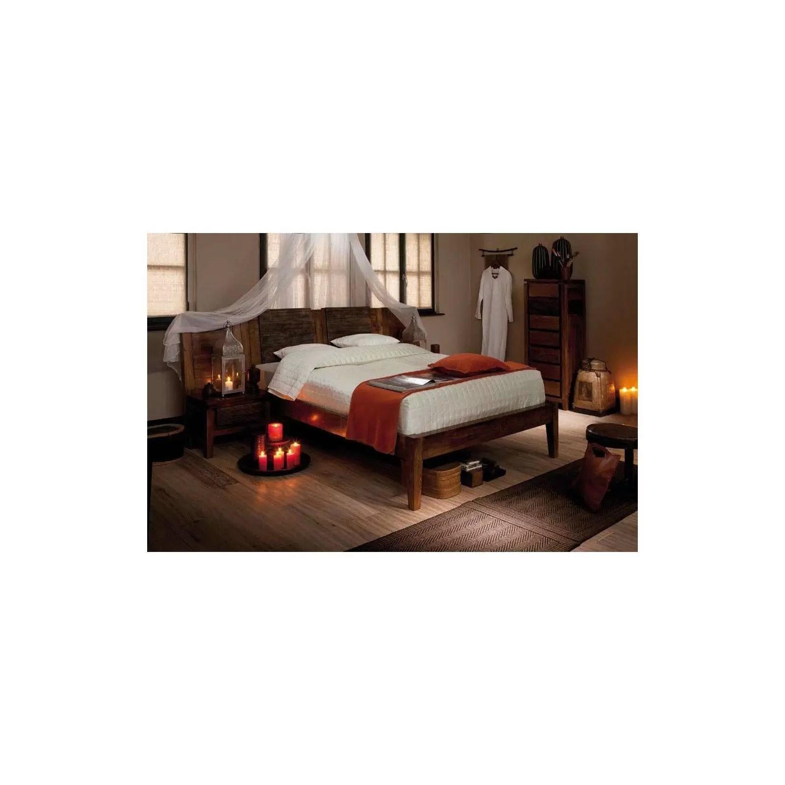 lit haut de gamme lisboa en acacia massif 160cm bois et chiffons