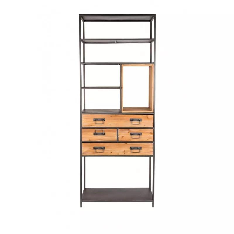 meuble de rangement metal et bois samuel boite a design